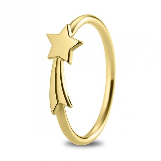 Anillo de plata dorada Estrella Fugaz (7A8307312)