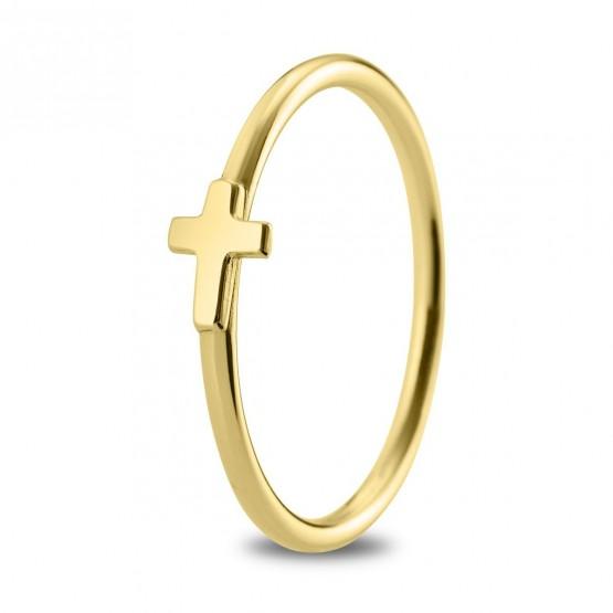 Anillo de plata de ley 925 dorada Cruz (7A8307304)