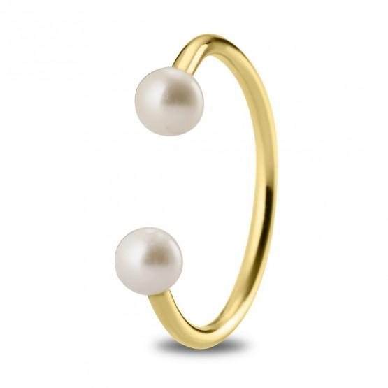 Anillo de plata dorada con Perlas (7A8307303A)