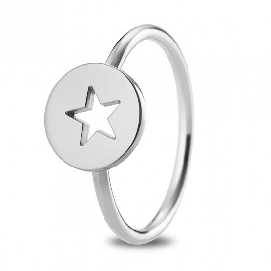 1d137c89ca51 Anillo de plata de ley 925 Estrella calada (7B8307309)