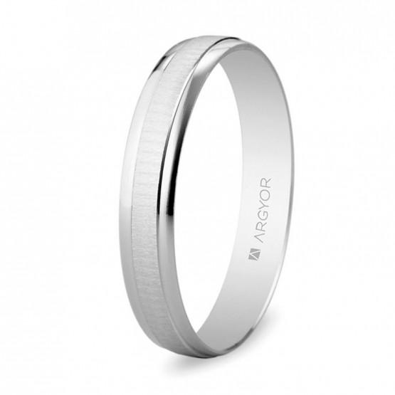 Alianza de boda de oro blanco 3,5mm (5B35495)