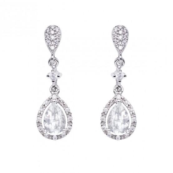 Pendientes de novia con topacios y diamantes (75B0209TT)