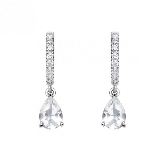 Pendientes de novia con topacios y diamantes (75B0212TT)