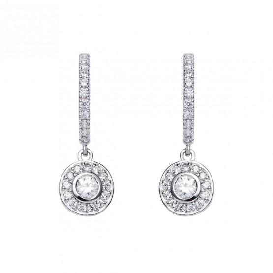 Pendientes de novia de oro 18k con diamantes (75B0214)
