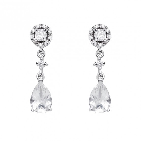 Pendientes de novia con topacios y diamantes (75B0216TT)