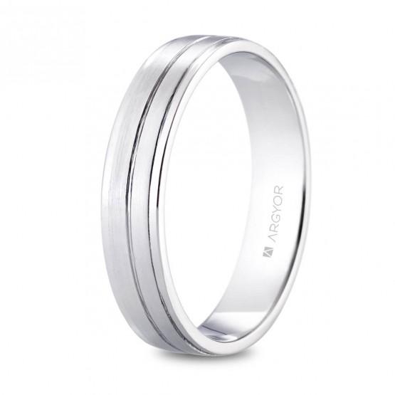 Alianza de platino satinada 4.5mm (05901245)