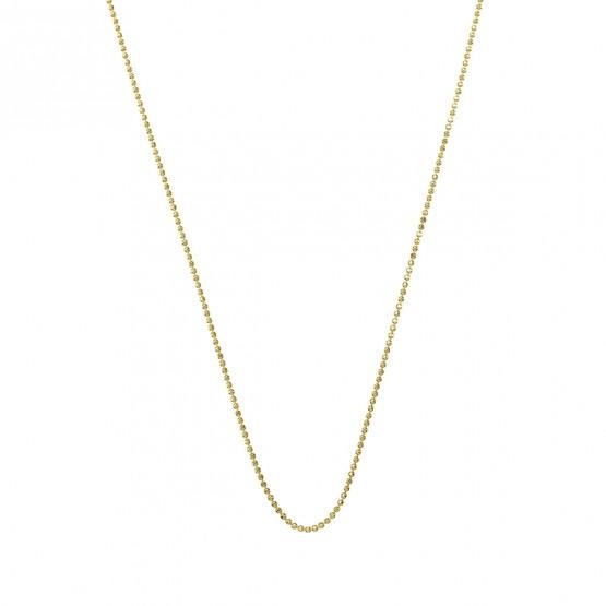 Collar con bolas de oro 18k pulido brillo 0.90mm (0410108A)