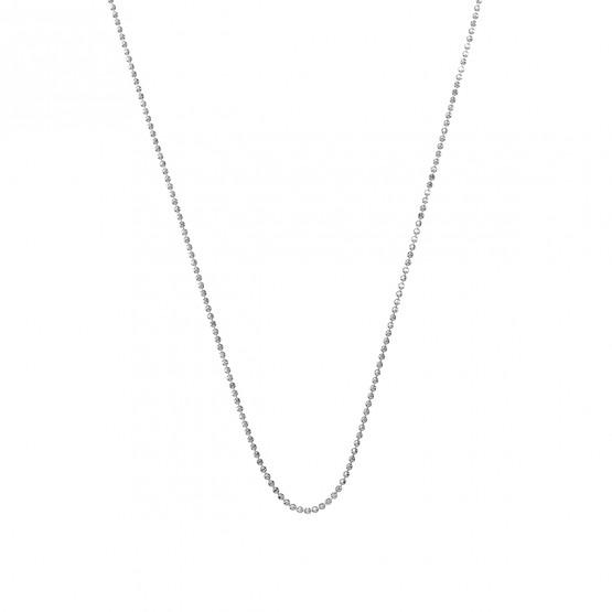 Collar de bolas pulido brillo en oro blanco 1.20mm (0410109B)