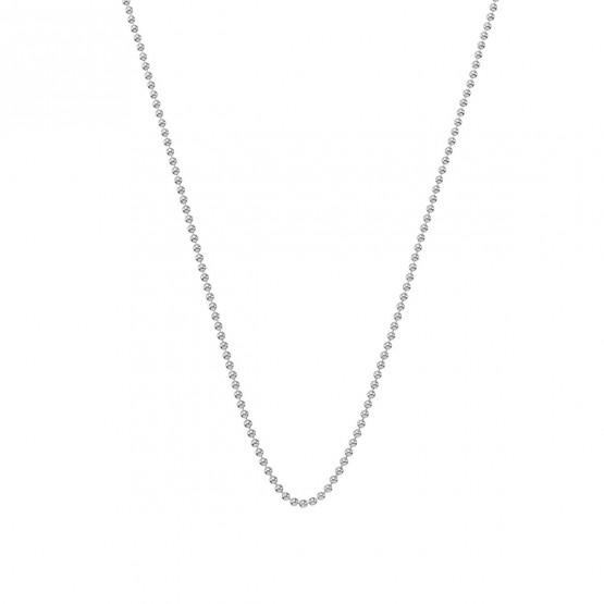 Collar cadena de bolas en oro blanco 1.40mm (0410110B)