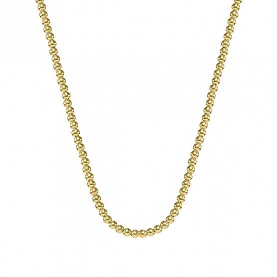 Collar oro 18k fantasía bolas brillo 4 mm (044A124COL)
