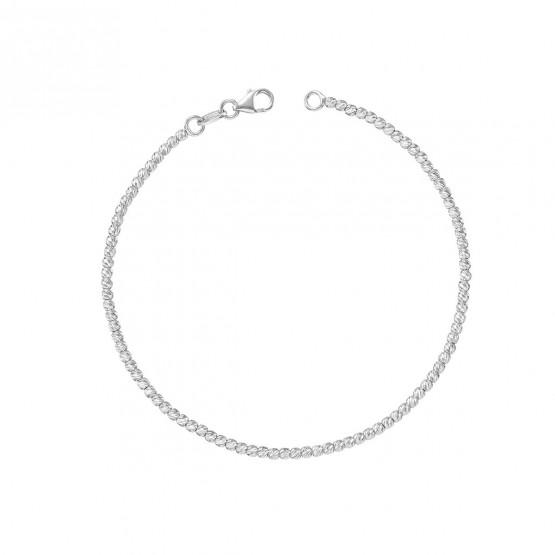 Pulsera oro blanco bolas diamantadas 1.9mm (044B118PUL)