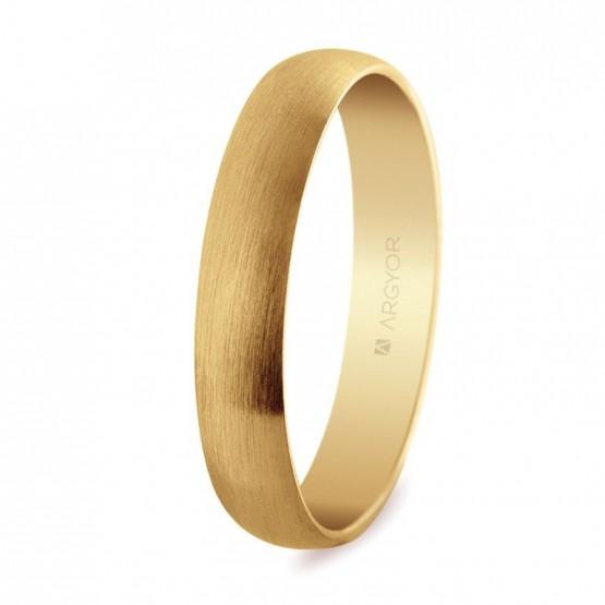 Alianza de boda oro acabado satinado 4mm (50405S)