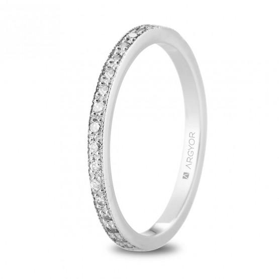 Anillo de oro blanco vuelta entera de diamantes (74B0167)