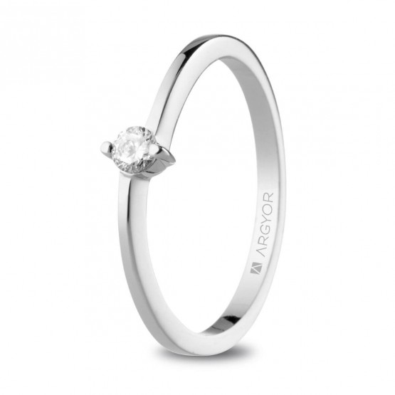 Anillo de Compromiso platino con diamante 0.10ct  (74B0154-74B0159)