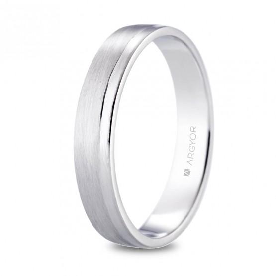 Alianza de platino plana 4mm combinada (05901440)