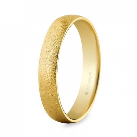 Alianza de oro confort efecto hielo 4mm (5640001H)
