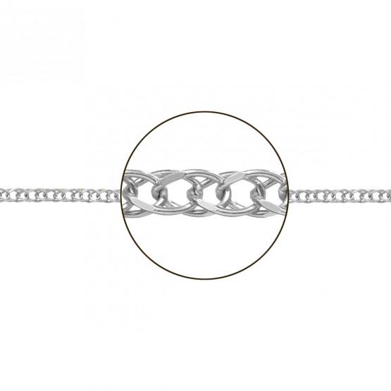 Cadena de oro blanco 18k en forma de espiga (066252020)