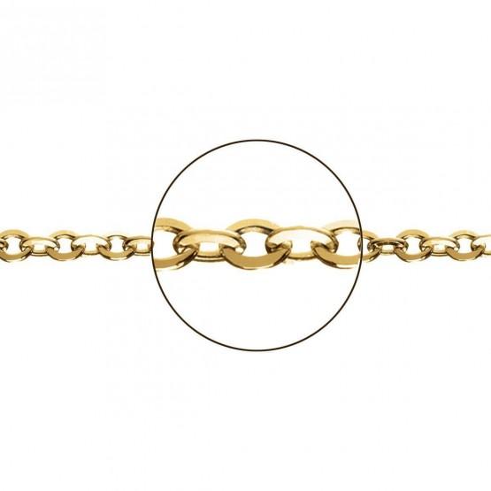 Cadena de oro amarillo 18k modelo rolo plana (066281040)