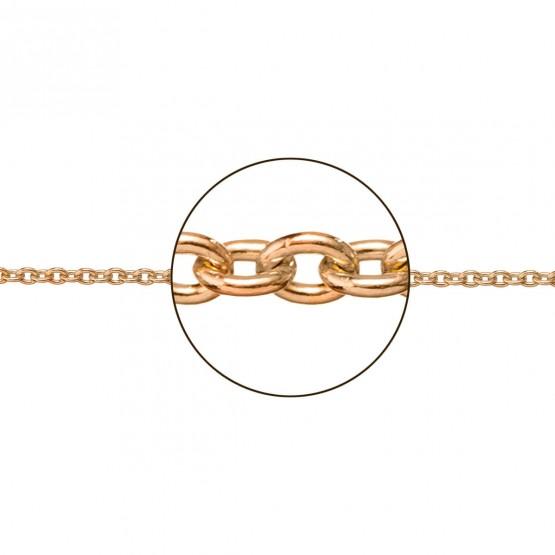 Cadena de oro rosa 18k modelo rolo (066273025)