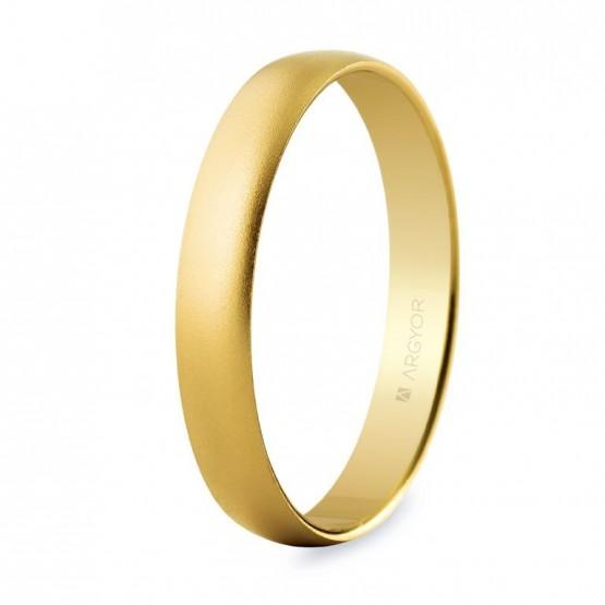 Alianza de boda oro amarillo 3,5mm efecto arena (50353M)