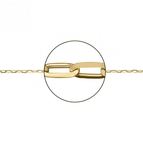 Cadena de oro amarillo 18k forzada (066151030)