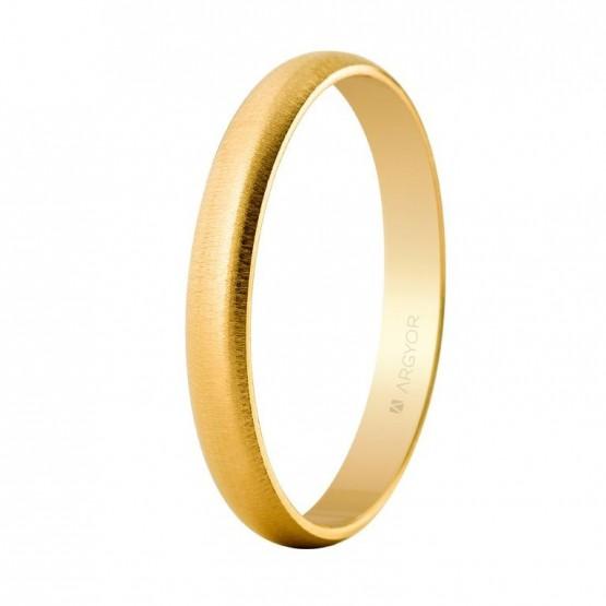 Alianza de oro clásica media caña 3mm (50305T)