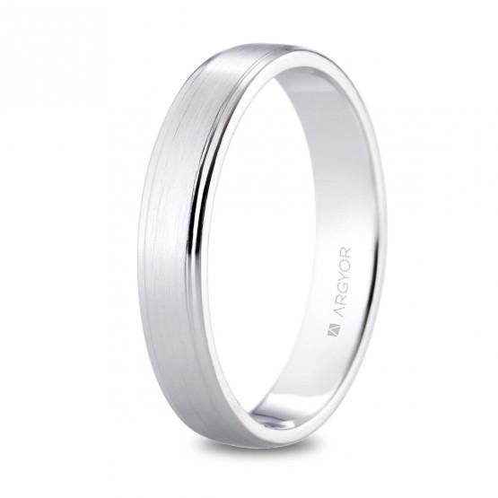 Alianza de platino satinada 4mm (05901040)