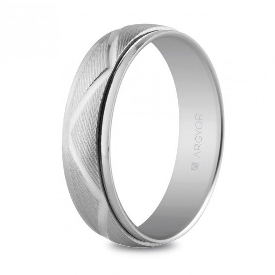 Alianza de plata 5mm diseño zig-zag (5750138)
