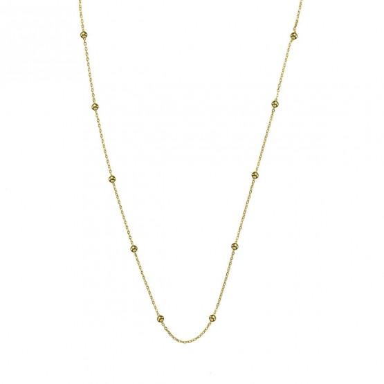 Collar oro amarillo con bolitas  (0410101A)