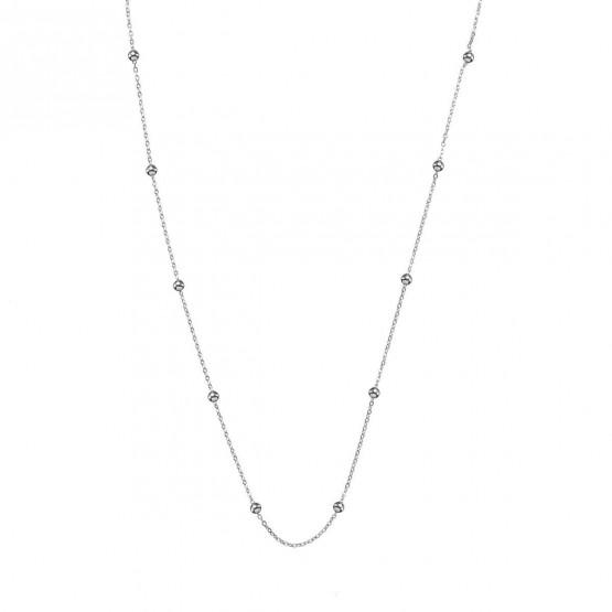 Collar oro blanco con diseño bolitas (0410101B)