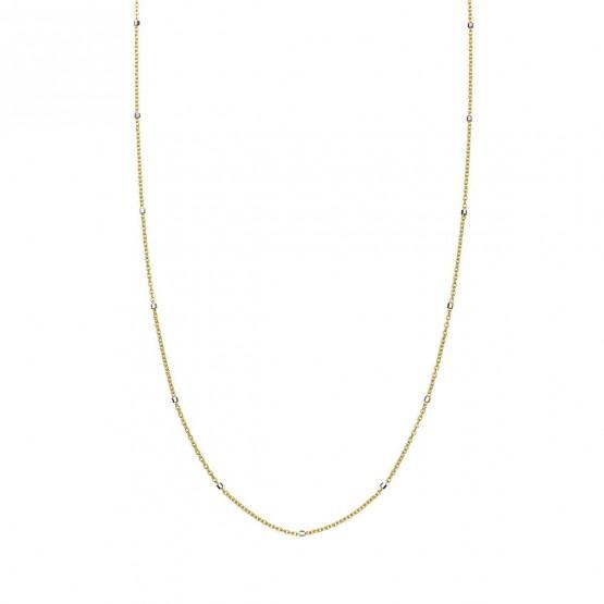 Collar oro amarillo con tubitos (0410106A)