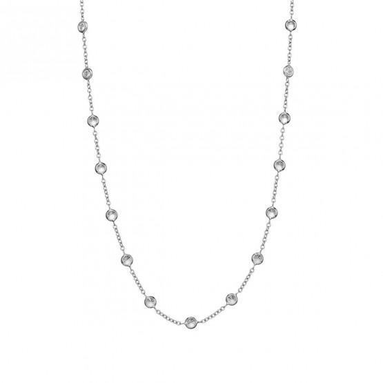 Collar oro blanco con 26 circonitas (043B101COL)