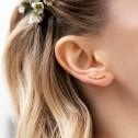 Pendientes de novia trepadores de oro con brillantes (75A0111Z)