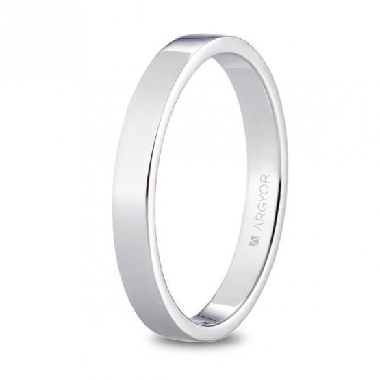 Alianza de platino plana brillo 3mm (05930130)