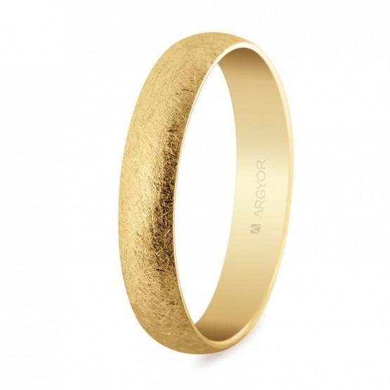 Alianza de boda oro acabado hielo 4mm (50405H)