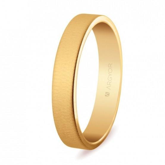 Alianza de oro plana texturizada (5140150T)