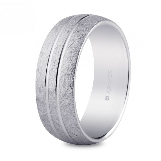 Alianza plata acabado hielo 7mm confort (5770022)