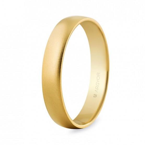 Alianza boda oro confort efecto arena 4mm (5640001M)