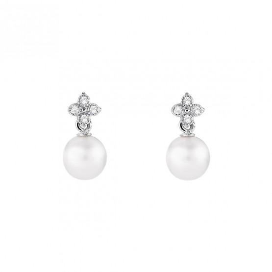 Pendientes para novia en plata y perlas (79B0100TD1) 1