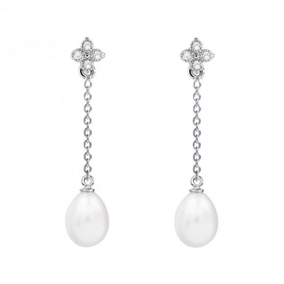 Pendientes de novia en plata y topacios cadena (79B0107TE1) 1