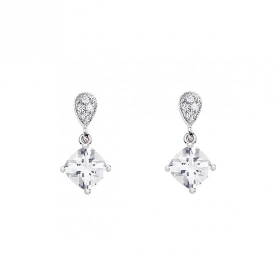 "Pendientes en plata con topacio ""Cushion"" (79B0200TC1) 1"