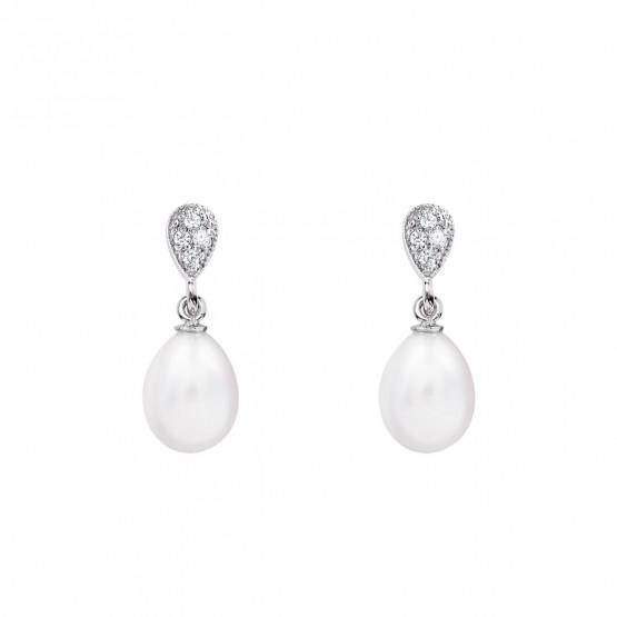 Pendientes de novia de oro blanco de18k con perlas (79B0200TE1) 1
