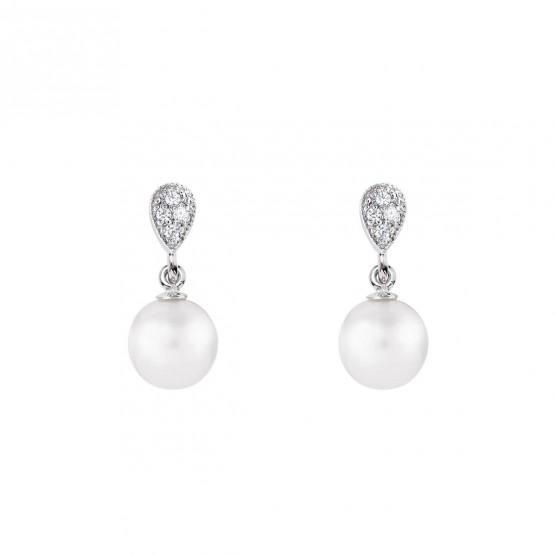 Pendientes para novia en plata y perlas (79B0200TD1) 1