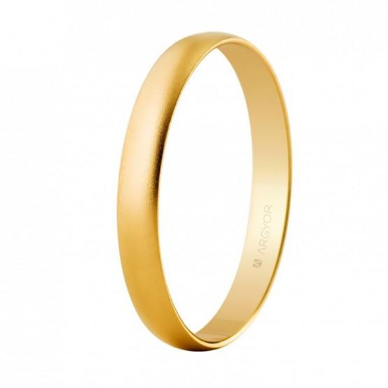 Alianza de boda oro amarillo 3mm efecto arena (50302M)