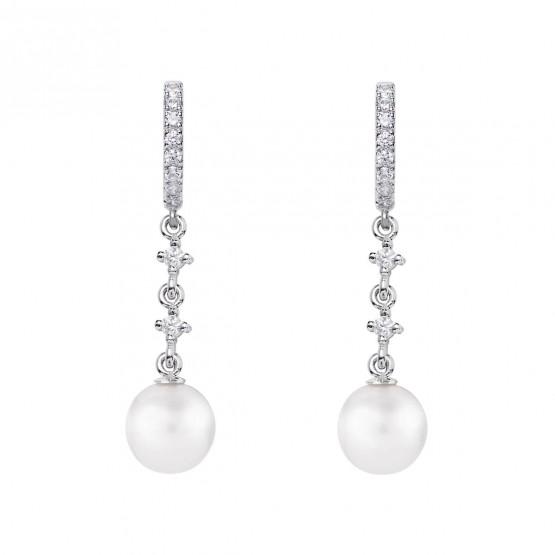 Pendientes de novia en oro blanco de18k y perlas (79B0402TD1) 1
