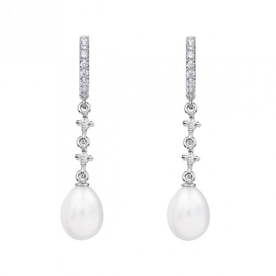 Pendientes de novia en oro blanco de18k y perlas (79B0402TE1) 1