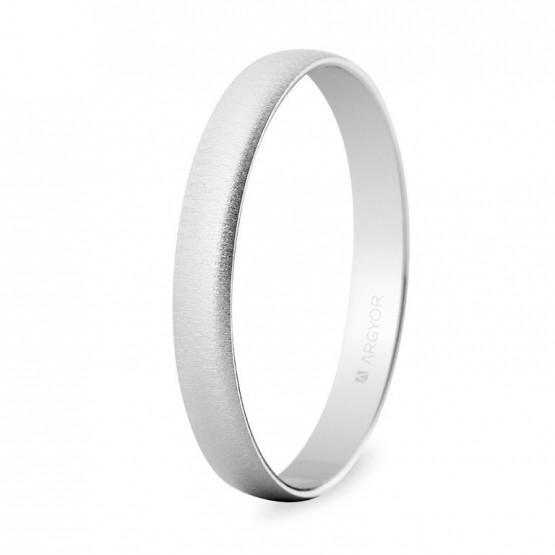 Alianza de boda oro blanco 3mm texturizada (5B302T)