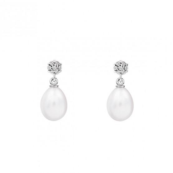 Pendientes de novia de oro blanco de18k con perlas (79B0600TE1) 1