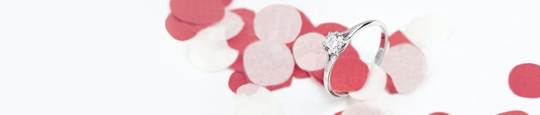 Anillo Solitario clásico de oro y diamante | Argyor